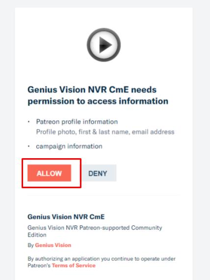 Community Edition Patreon Integration - Genius Vision