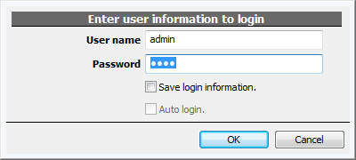 What is the default account and default password? - Genius